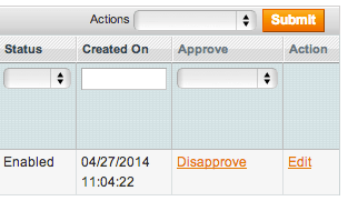 Approve or disapprove the product upload from the product list.