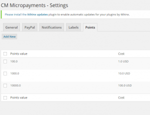 Setting up MicroPayment virtual money
