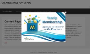 CM Pop-Up Banners Plugin PopUp Banner Example